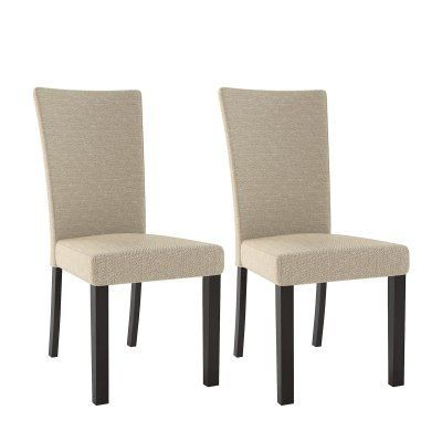 CorLiving Bistro Woven Dining Chairs - Set of 2 - DRC-875-C