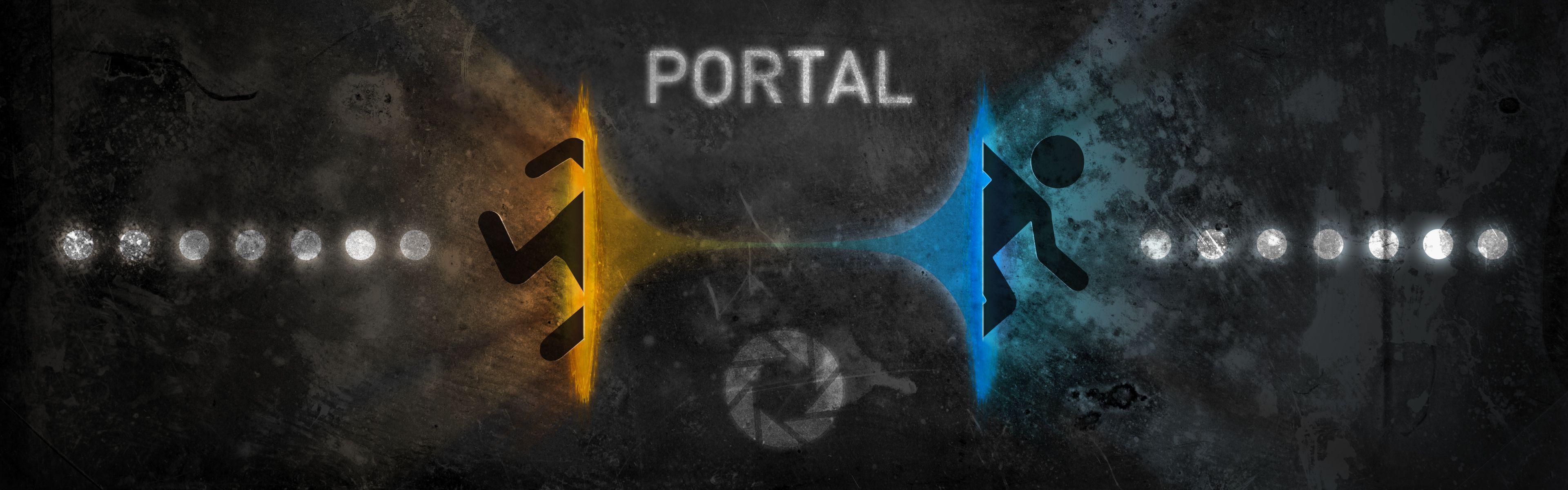 portal 2 wallpaper dual - photo #1