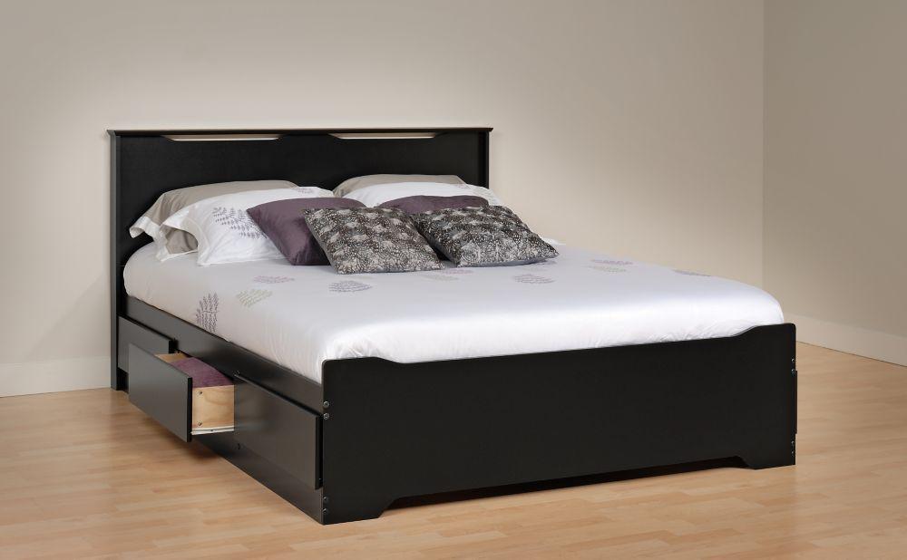 dossier de lit coal harbor panneau plat noir base de. Black Bedroom Furniture Sets. Home Design Ideas