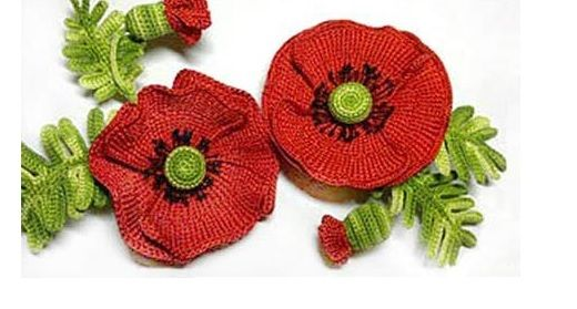 Patrones Crochet: Broche Amapola Tutorial | Crochet | Pinterest ...