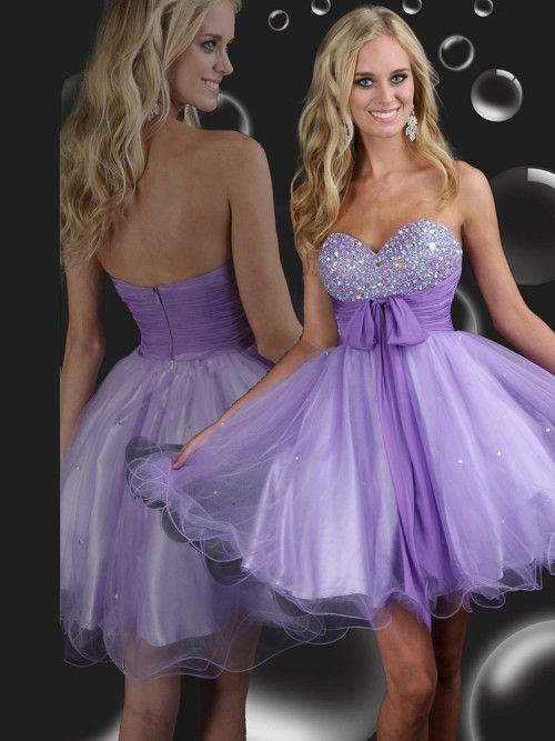 Empire Waist Sweetheart Beading Tulle Short Mini Dress #ShopSimple