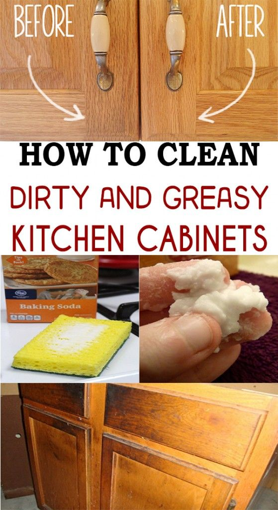 how to clean unfinished greasy kitchen cabinets