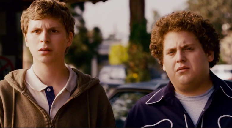 In Superbad 2007 The Lead Characters Names Evan And Seth Are Named After The Movies Writers Seth Rogan And Evan Goldberg Who In 2020 Funny Movies Superbad Movie List