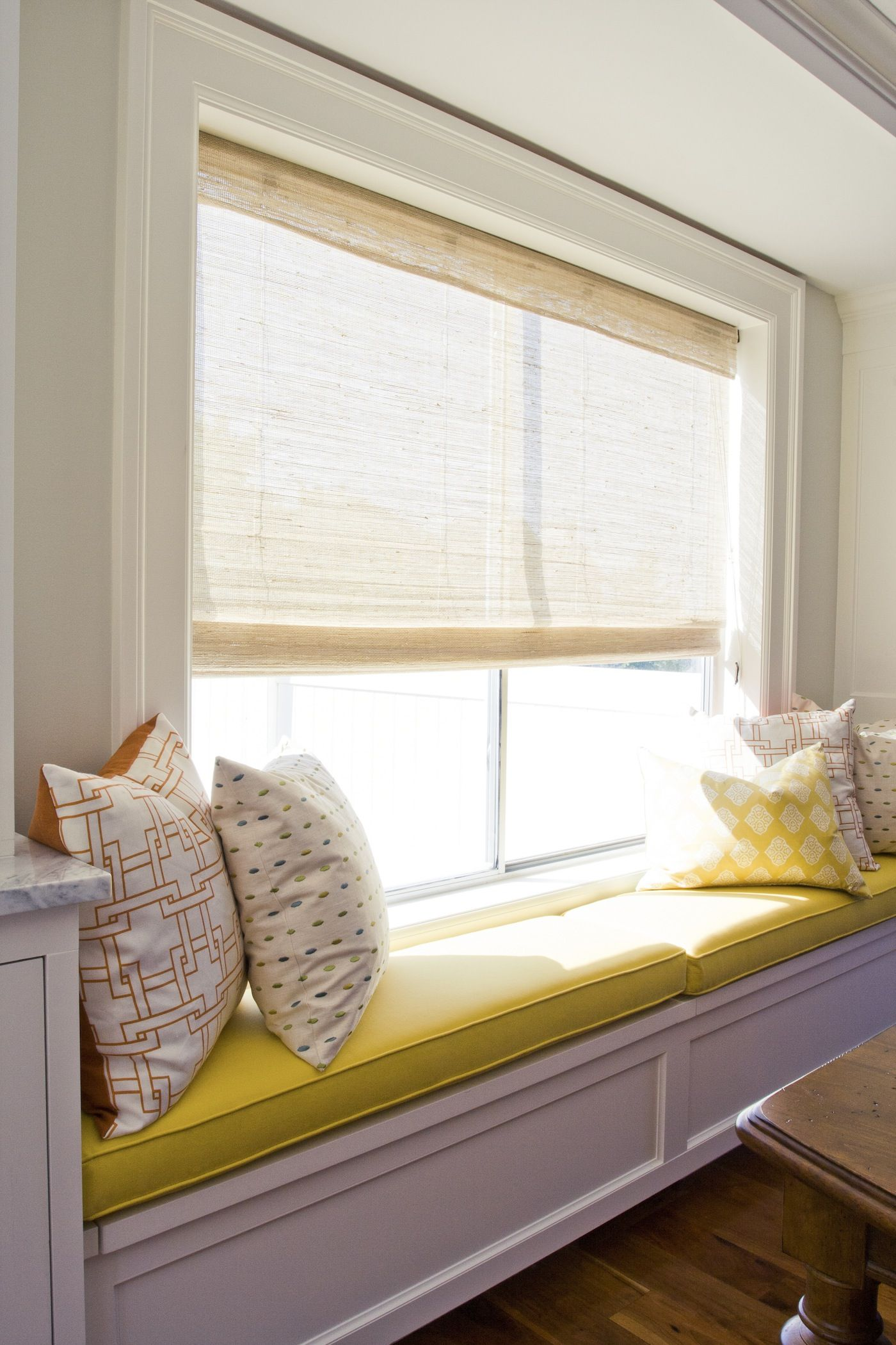 window seat banquette under the playroom windows home pinterest banquettes. Black Bedroom Furniture Sets. Home Design Ideas