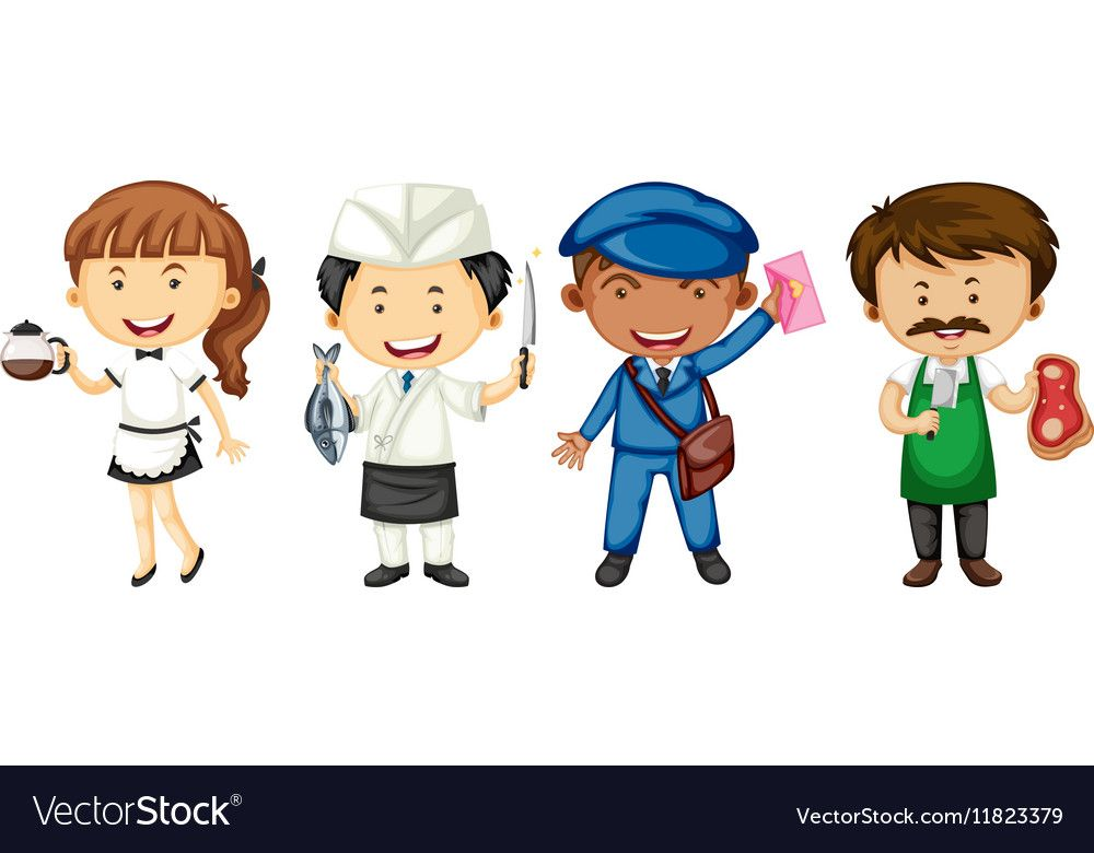 People doing different jobs vector image on (con imágenes)