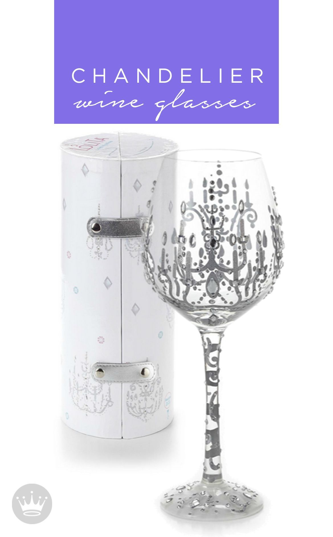 These Chandelier Wine Glasses from Hallmark would be the perfect ...