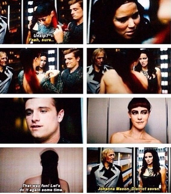 The Elevator scene LOLOL | my obsessions | Hunger games ...