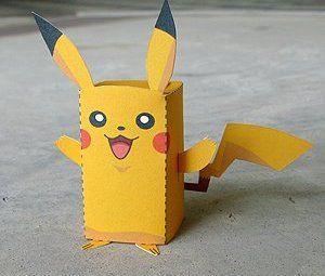 Schön Paper Craft Pikachu Box Figure (Finger Puppet Pokemon)!