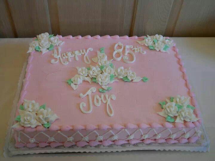 Pretty 85th Birthday Cake For Mom