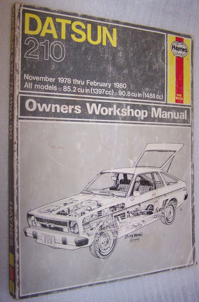 datsun 210 models 1978 1980 haynes owners workshop repair manual 525 rh pinterest ca 1983 Datsun 210 1981 Datsun 210 Hatchback