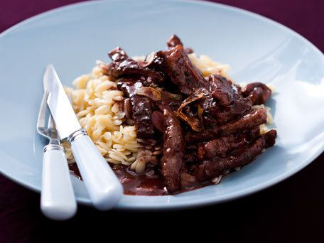 Rosemary and Red Wine Beef Saute - would work well with chicken or vegetarian meats, too I think