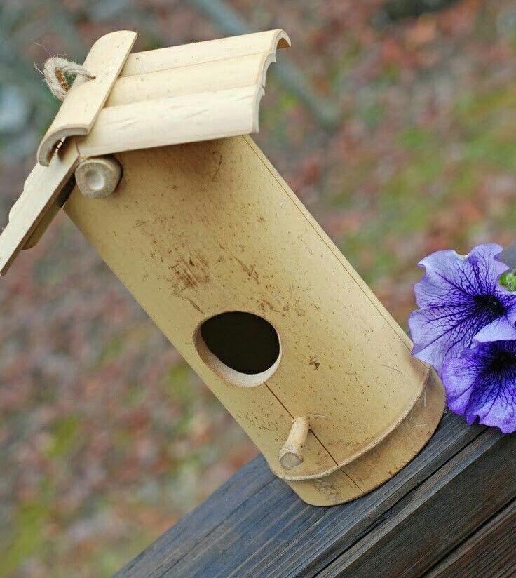 Bamboo Birdhouse Bamboo Diy Bamboo Decor Bamboo Crafts
