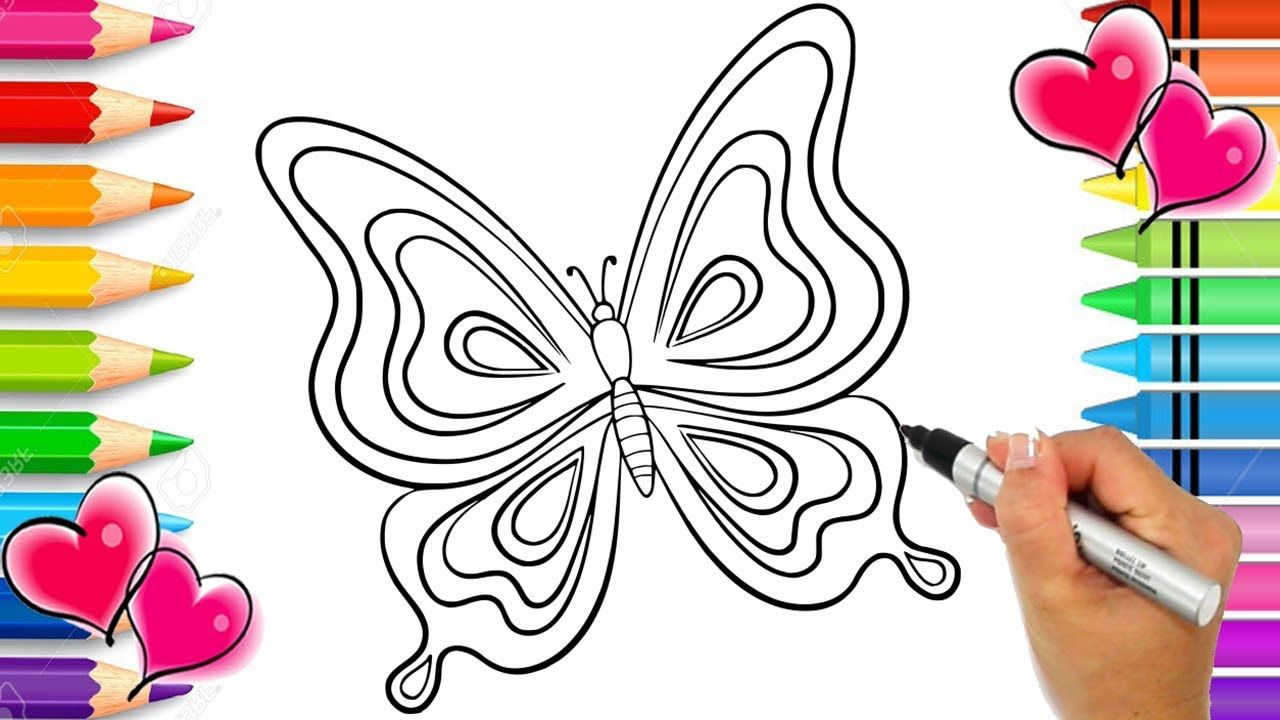 Beautiful Butterfly Coloring Page With Glitter Glitter Art Butterfly Butterfly Coloring Page Coloring Pages Butterfly Art