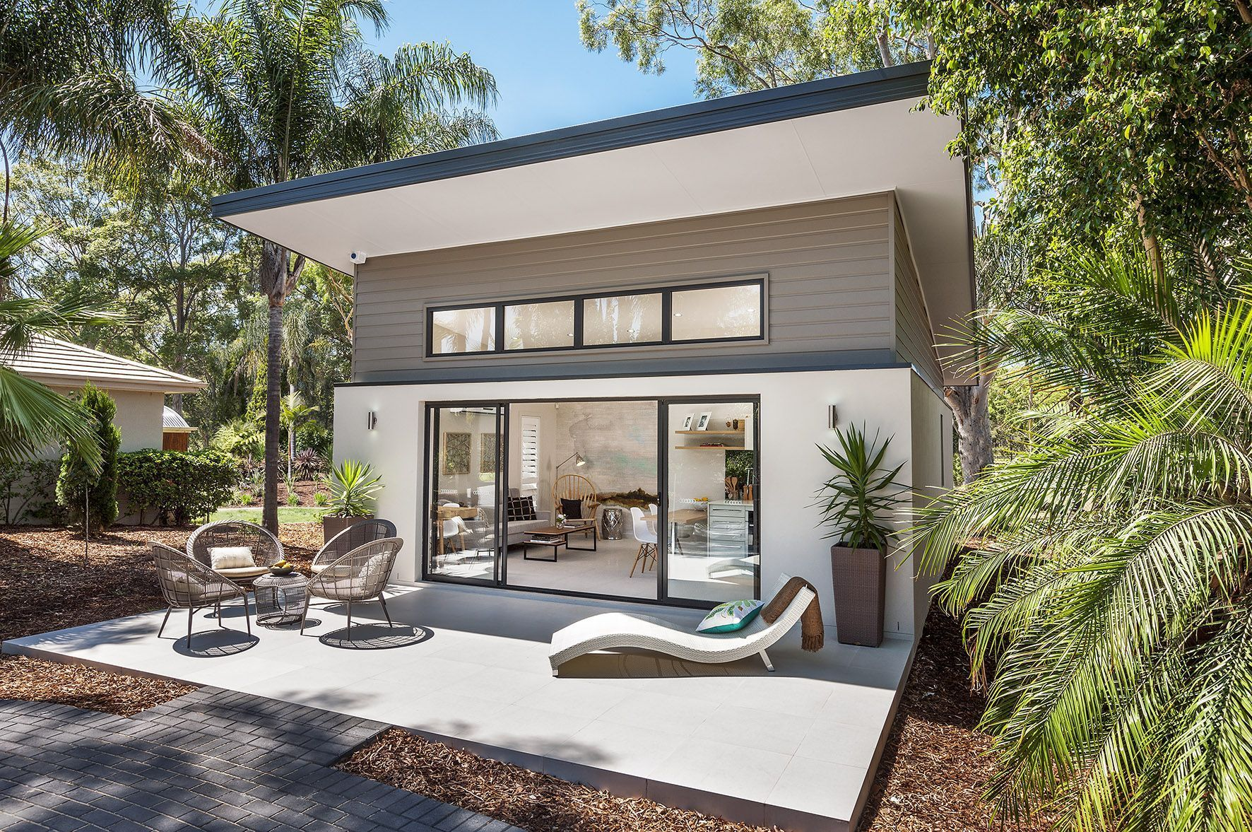 Image result for guest house pool cabana skillion roof ...