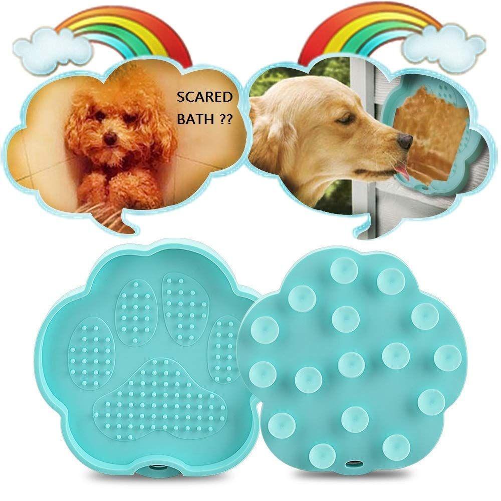 Bonfook Bath Buddy Dogs Dog Lick Paw Pad Easy Funny Bath Wall