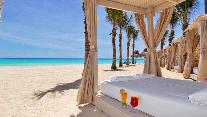 If heading to Cancun, why not relax on a canopy bed @ Omni Cancun Hotel and Villas. Cancun, #Mexico #iGottaTravel