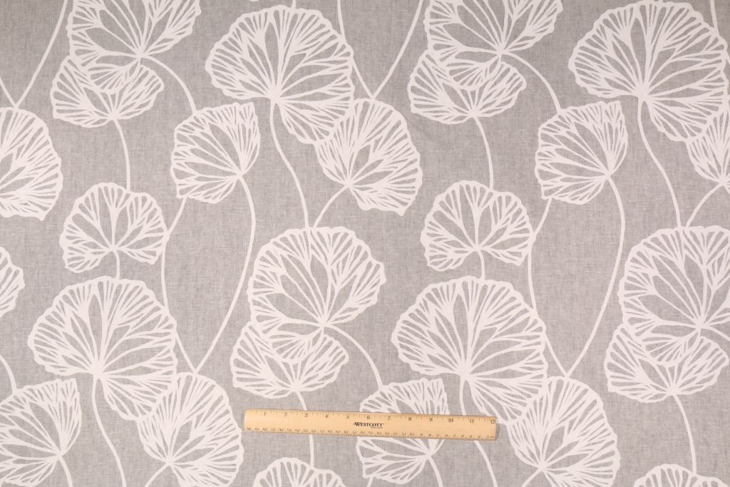 14 Yards KF Sandy Pond Printed Linen Drapery Fabric in Smoke. This printed fabric is perfect for window treatments, decorative pillows, handbags, light duty upholstery applications and almost any craft...