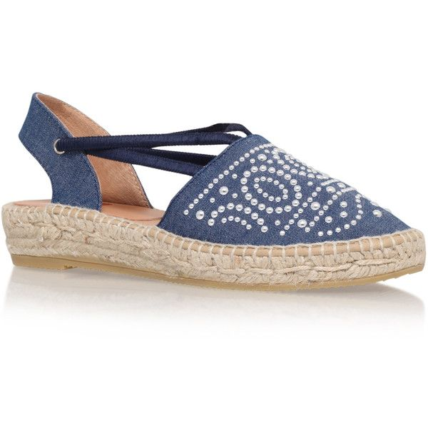 Ada Kanna Blue (€100) ❤ liked on Polyvore featuring shoes, sandals,