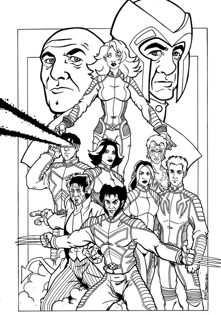 Exceptionnel Xmen Familiy Coloring Pages