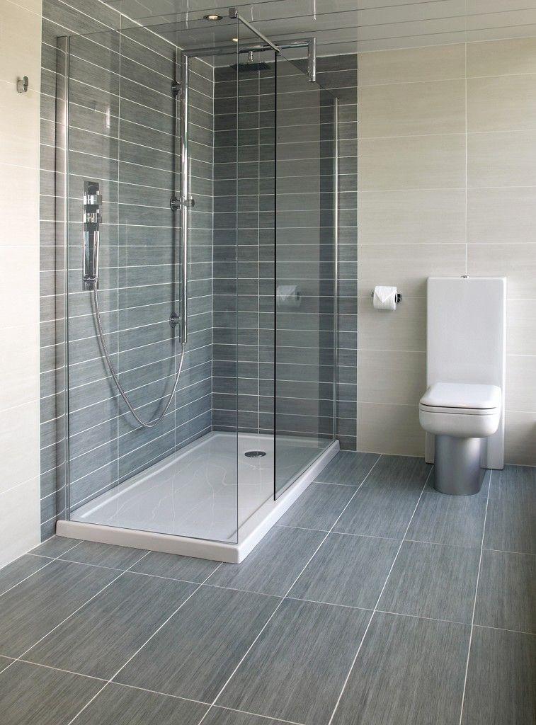 Mood Mid Grey (60x30cm) Topps Tiles wet room in mid