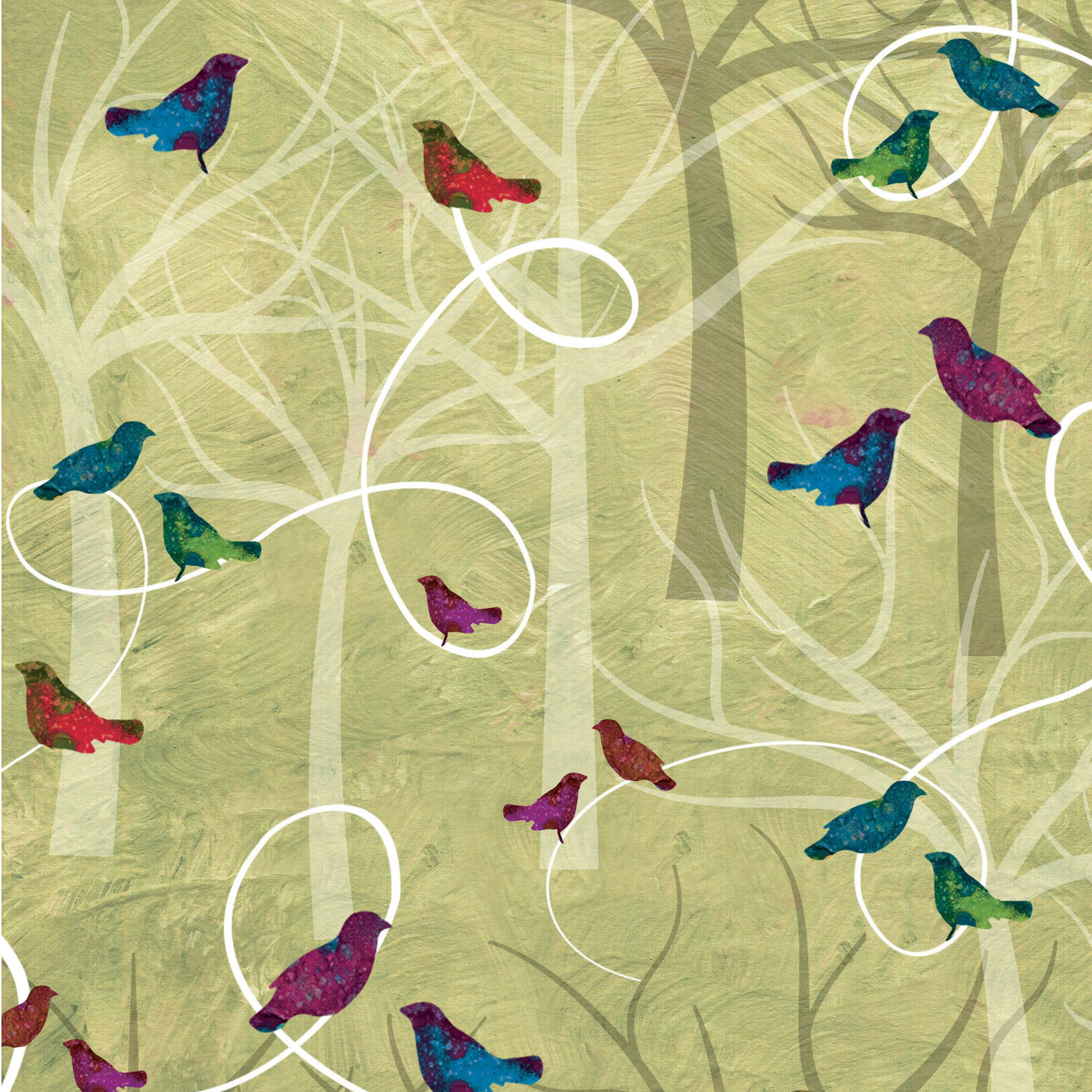 100/% Cotton Crafts /& Quilts Trees /& Swirls Print Fabric per 1//2 Metre