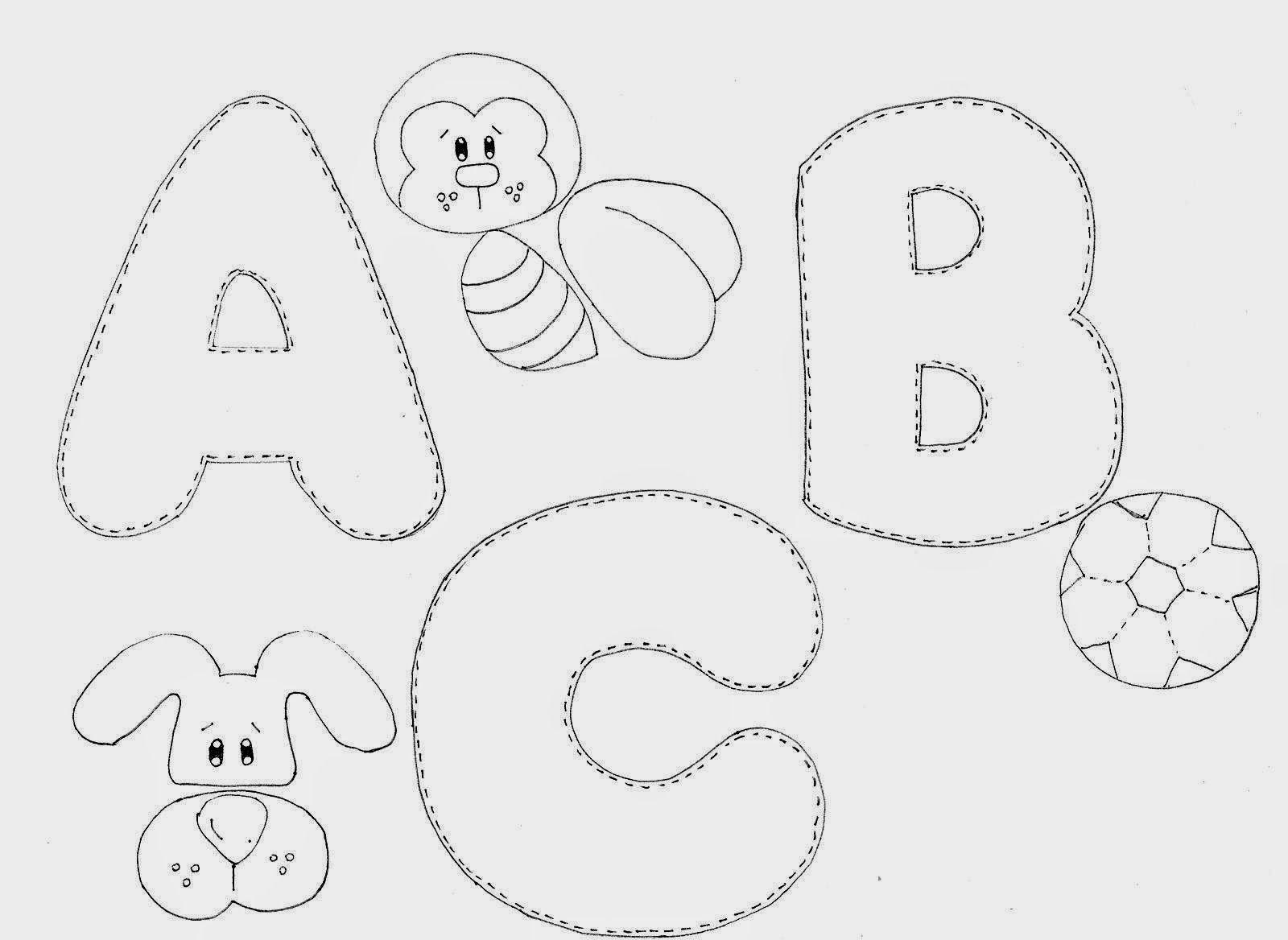 Moldes De Alfabeto Molde Alfabeto Tecidos Artesanais De Feltro