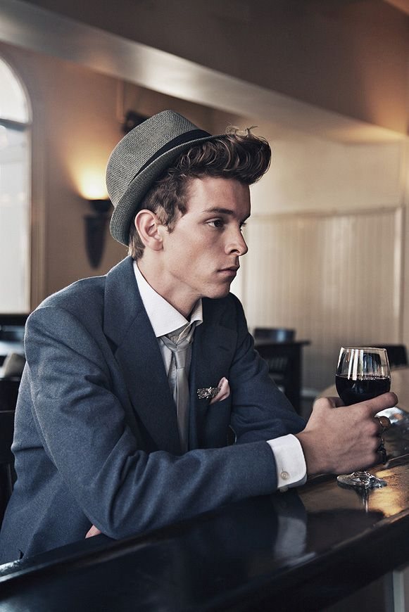 See now this guy can pull off a fedora... Not many guys can.