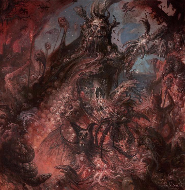 The Sinister Artwork Of Paolo Girardi Horror Artwork Satanic Art Dark Fantasy Art