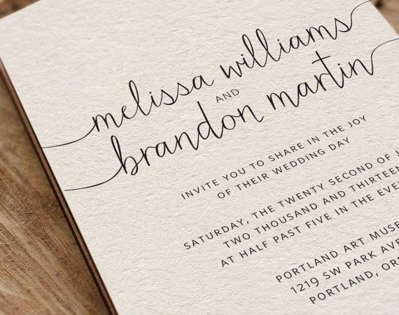 Popular Fonts For Wedding Invitations: Printable Wedding Invitation By VGriffithsDesigns On Etsy