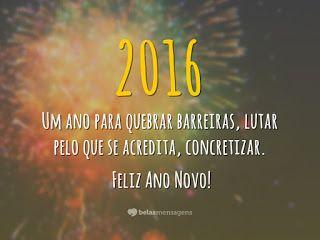 As 3 Marias - Universo Feminino: Para entrar 2016 com o pé direito.Feliz 2016!!