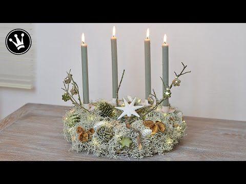 diy adventskranz i stacheldrahtpflanze zapfen naturdeko glasanh nger i led lichterkette. Black Bedroom Furniture Sets. Home Design Ideas