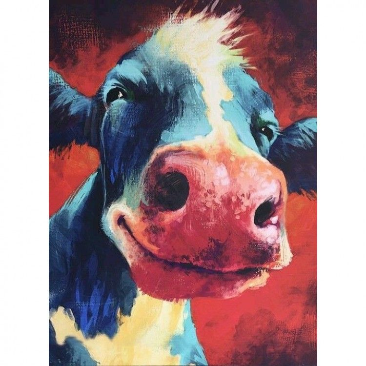 CoW PRINTS WaLL ART of Original Painting HuRLEY BuRLEY by SHiRLEY MACARTHuR