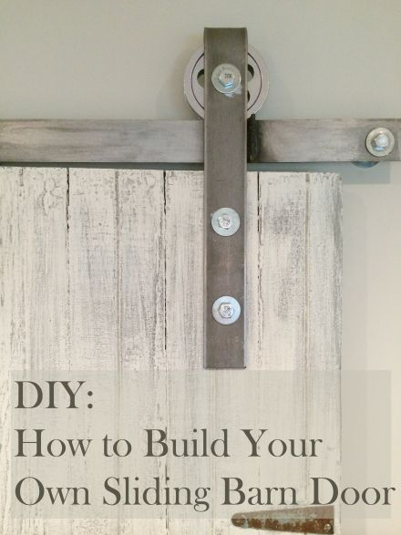Learn how to make your own sliding barn door. All I did was buy a ...