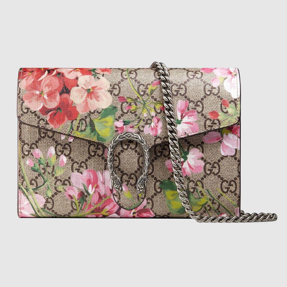 e8b47cb6 GUCCI Dionysus Blooms print mini chain bag - antique rose blooms. #gucci # bags #shoulder bags #wallet #canvas #leather #accessories #
