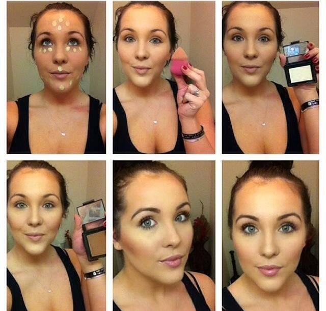 Easy highlight and contour (with elf makeup)