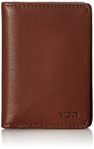 new style 6b8c6 ad4b2 TUMI Mens Chambers Gusseted Card Case Teak One Size ** Read more ...