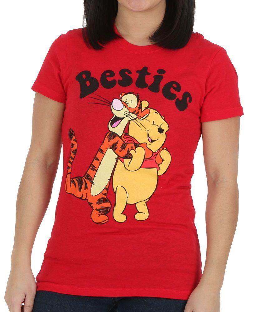 0cd33c2b Womens Winnie the Pooh Besties Tigger Pooh T-Shirt | Stylish ...