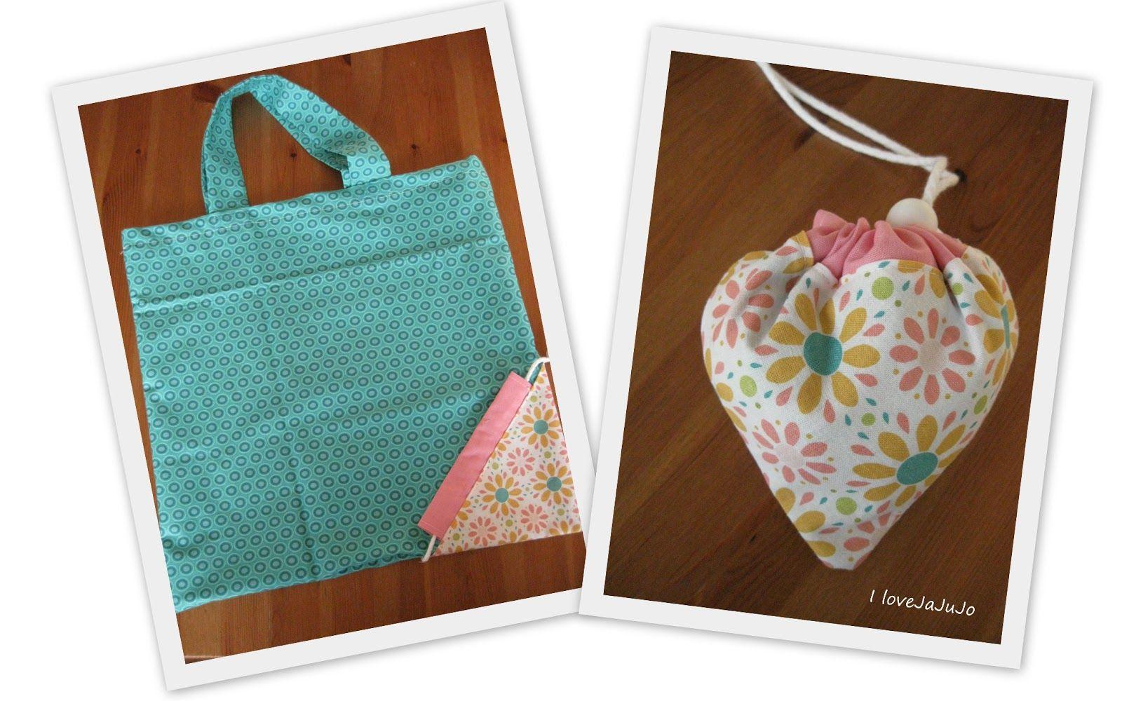 i love jojujanna: Tutorial: Faltbare Einkaufstasche | FREE Sewing ...