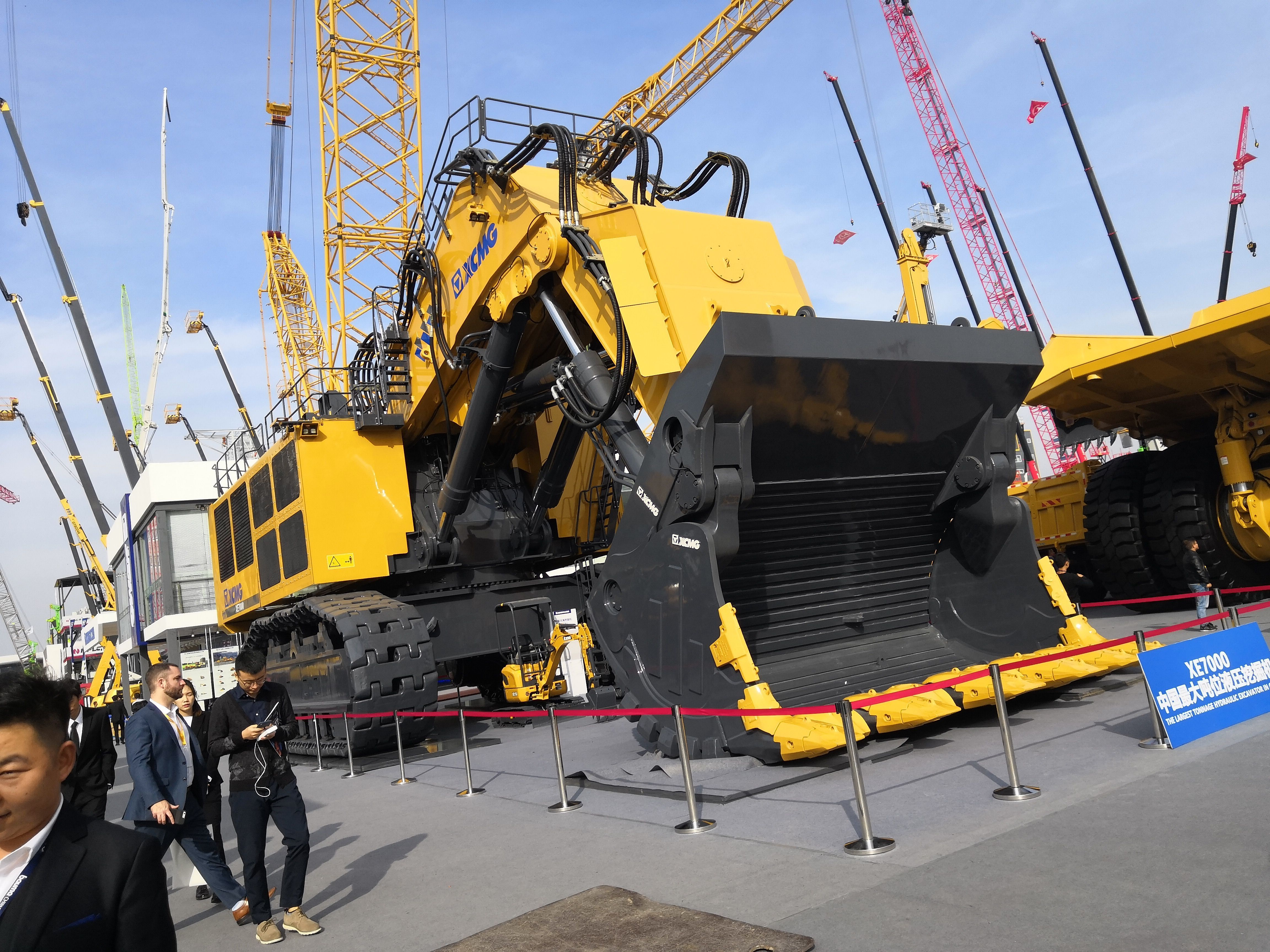 Wow! Biggest excavator in China, XE7000 by XCMG  I believe