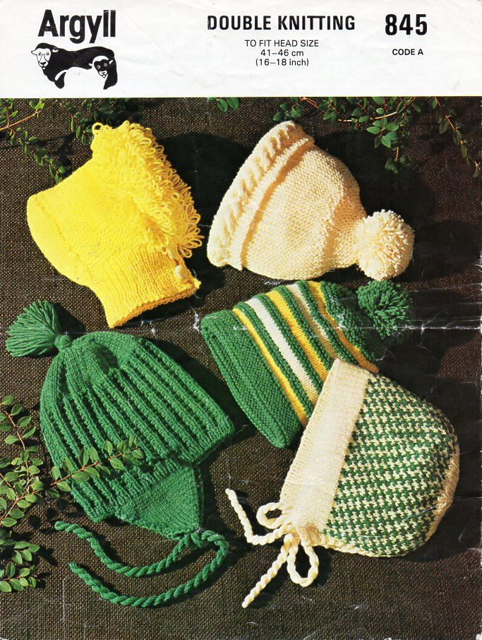 baby / childs hats knitting pattern pdf DK bonnets helmets caps ...