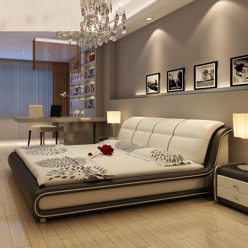 Venta caliente estilo americano moderno cama de cuero for Actual muebles