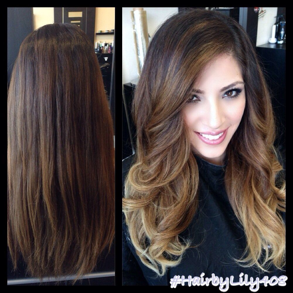 style my hair balayage highlights before and after search 6763