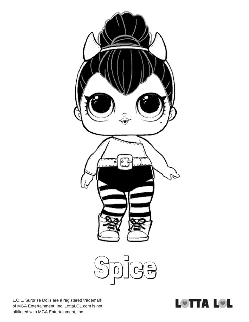 Spice lol doll coloring pages