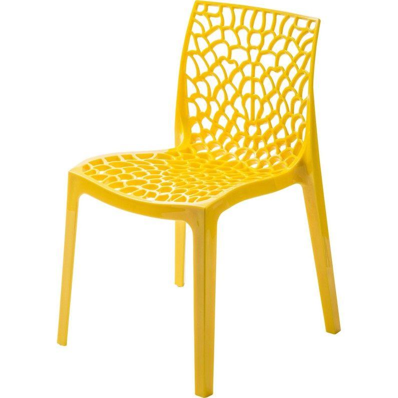 Chaise De Jardin En Resine Grafik Jaune Chaise De Jardin Chaise Table Et Chaise Exterieur