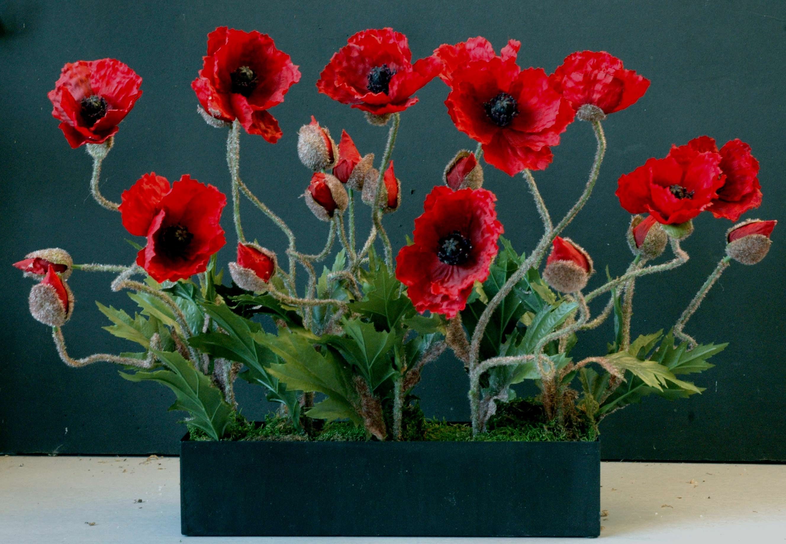 Red Poppies Silk Flowers Love It Pinterest Flowers And Gardens