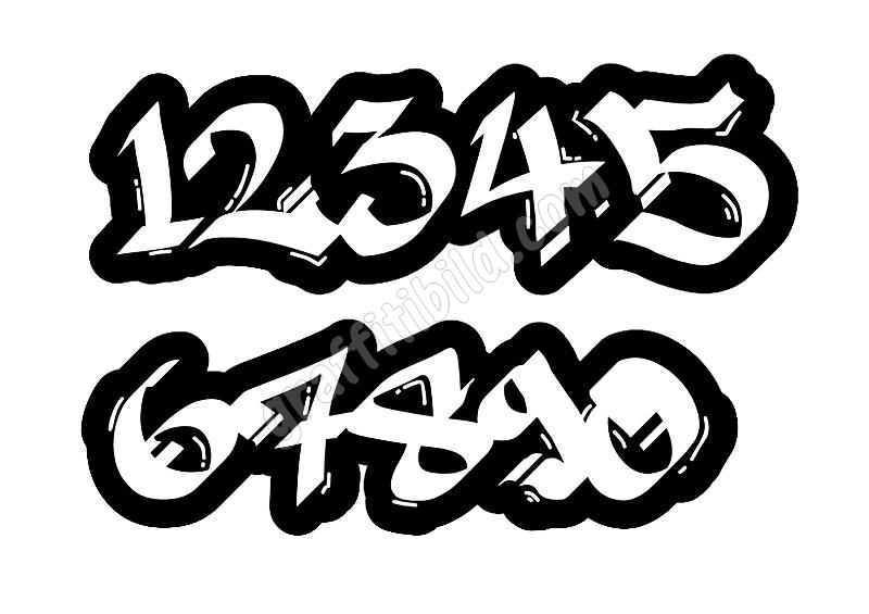 pin auf graffiti schrift
