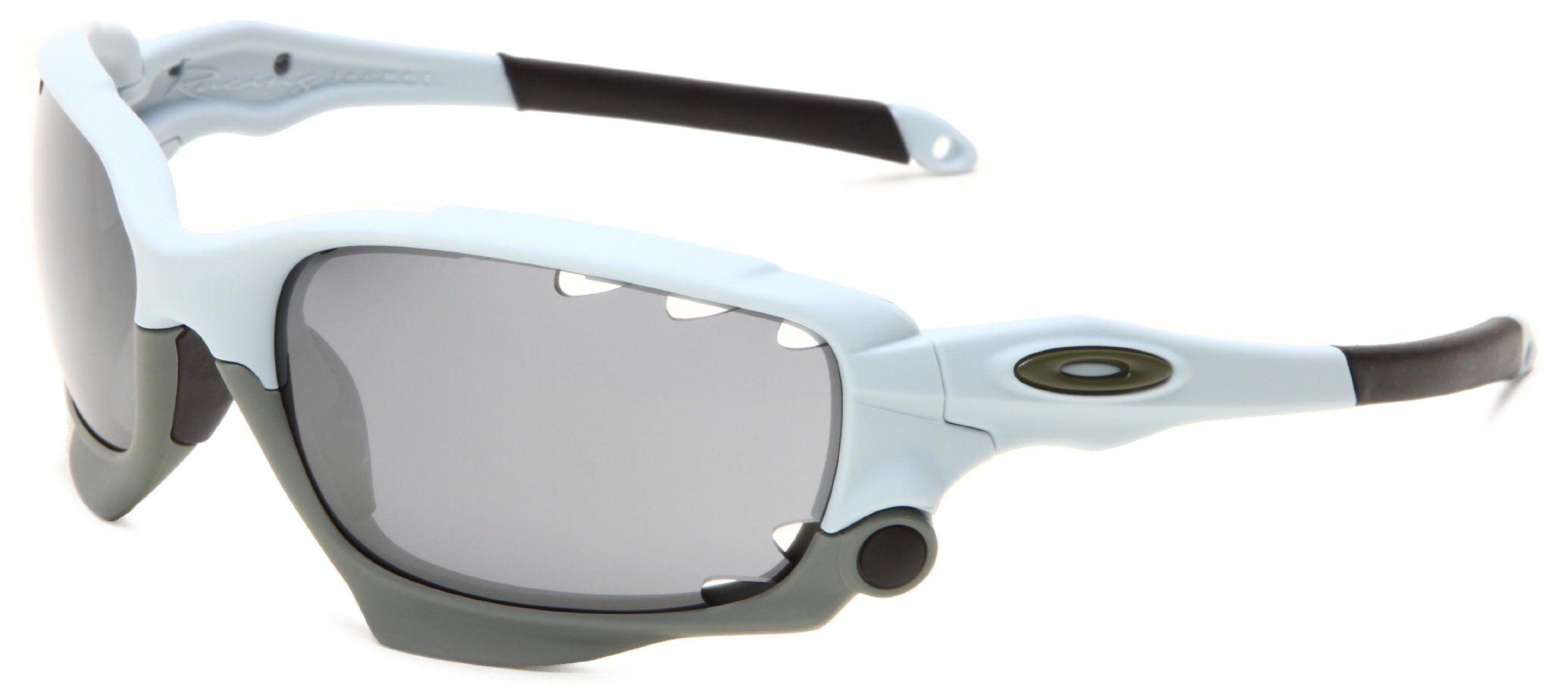 oakley racing jacket oo9171 13 iridium wrap sunglasses blue 62 mm rh pinterest com