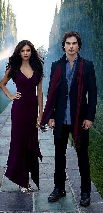 damon and elena. I could see them as Ana Steele and Christian grey <3