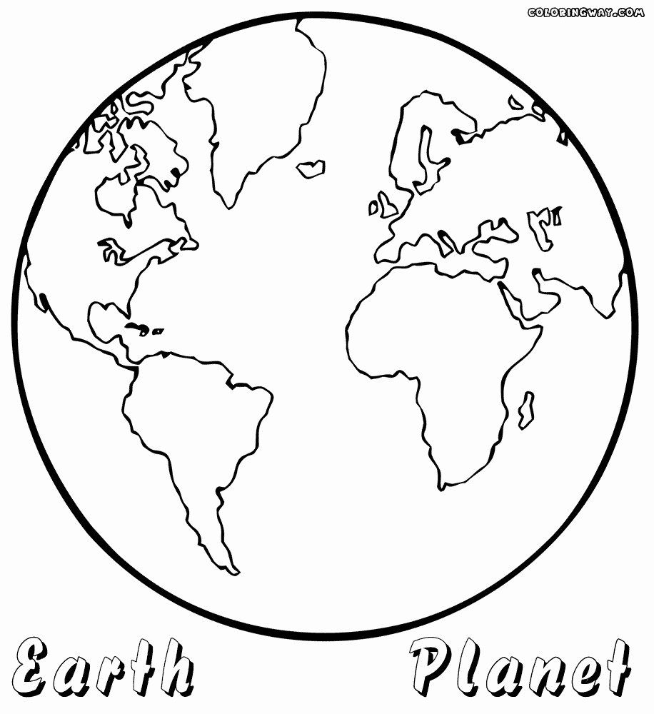 Earth Coloring Page For Toddlers