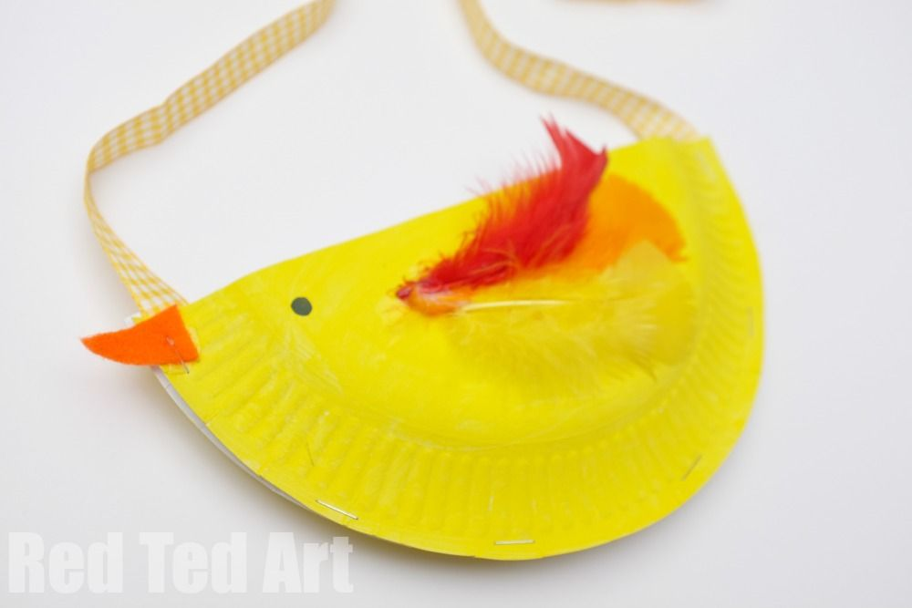 Paper Plate Chick & Bunny Purse | Farm crafts, Paper plate crafts ...